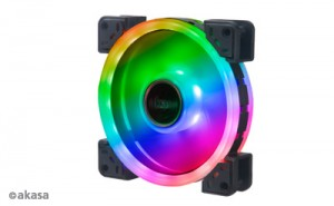 Akasa Vegas TLX Addressable-RGB ventilátor - 120mm (AK-FN101)