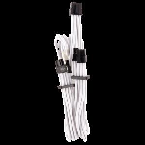 Corsair Premium harisnyázott PCIe-Dual kábel Typ 4 Gen 4, Y-Kábel fehér (CP-8920252)
