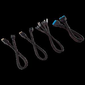 Corsair - Premium Sleeved Frontpanel készlet, 4 részes, kábel - - fekete (CC-8900244)