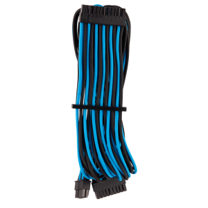 Corsair Premium Sleeved 24-Pin-ATX Typ 4 Gen 4 kábel - kék/fekete (CP-8920235)