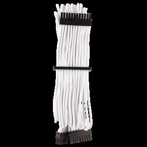 Corsair Premium Sleeved 24-Pin-ATX Typ 4 Gen 4 kábel - fehér (CP-8920231)