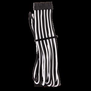 Corsair Premium Sleeved 24-Pin-ATX Typ 4 Gen 4 kábel - fekete/fehér (CP-8920234)