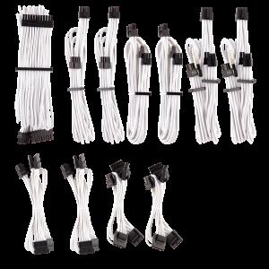 Corsair Premium Individually Sleeved tápegység kábel Pro Kit Type 4 Gen 4 –  20-részes - fehér (CP-8920224)