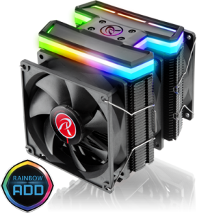 Raijintek Delos RBW Rainbow RGB LED - 3x 92mm (0R10B00096)