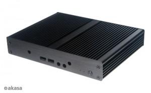 Akasa Laplace ST V2 Mini-STX ház, OEM - fekete (A-ITC042-M1B)