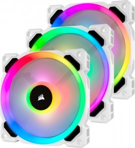 Corsair LL120 RGB Dual Light Loop PWM ventilátor, Triple Pack+vezérlő RGB (CO-9050092-WW)
