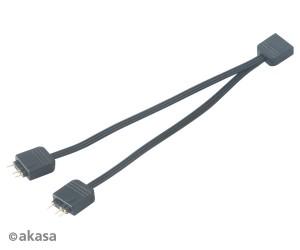 Akasa Címezhető RGB LED Splitter kábel 12cm 5V 3-pin /AK-CBLD08-12BK/