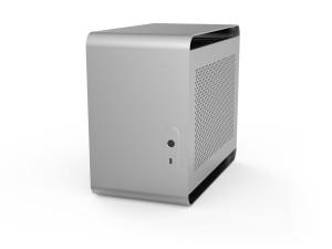 Streacom DA2 Mini-ITX-PC ház - ezüst (ST-DA2S)