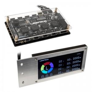 Lamptron SM436 Sync Edition PCI RGB ventilátor és LED vezérlő - ezüst (LAMP-CA410S)