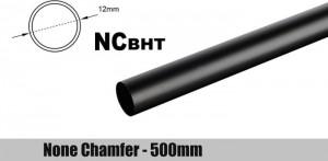 Bitspower None Chamfer Brass Hard Tubing 12mm AD, 500mm - carbon (BP-NCBHT12CB-L500)