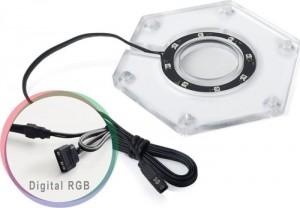 Bitspower Water Tank Hexagon Digital RGB Add-On(BP-WTHU-DRGB)