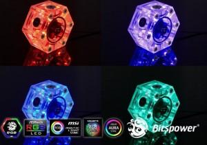 Bitspower Hexagon áramlásjelző - RGB (BP-HFI-RGB)