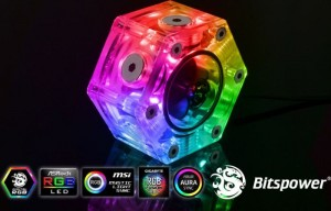 Bitspower Hexagon áramlásjelző -Digital RGB (BP-HFI-DRGB)