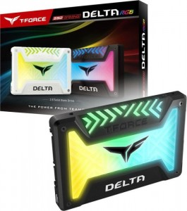 TeamGroup T-Force Delta RGB SSD fekete 1TB, 5V LED, SATA (T253TR001T3C313)