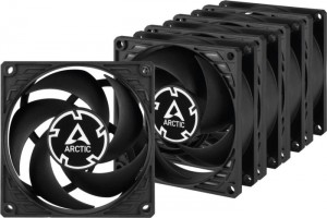 Arctic P8 PWM PST Value Pack fekete 5ös csomag (ACFAN00154A)
