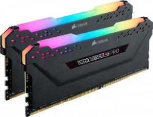 Corsair Vengeance RGB PRO fekete DIMM készlet 32 GB, DDR4-3600, CL18-22-22-42 (CMW32GX4M2Z3600C18)
