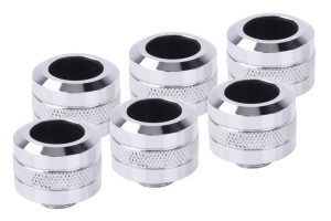 Alphacool Eiszapfen PRO 16mm HardTube Fitting G1/4 - Chrome Sixpack /17476/