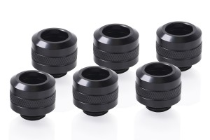Alphacool Eiszapfen PRO 13mm HardTube Fitting G1/4 - Deep Black Sixpack /17475/