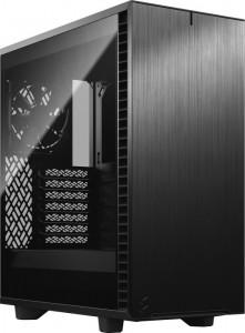 Fractal Design Define 7 Compact Black TG Dark - sötét színű edzett üveg, hangszigetelt, fekete (FD-C-DEF7C-02)