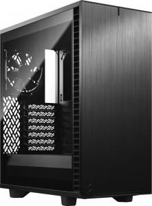Fractal Design Define 7 Compact Black TG Midi-Tower - edzett üveg, hangszigetelt, fekete (FD-C-DEF7C-03)
