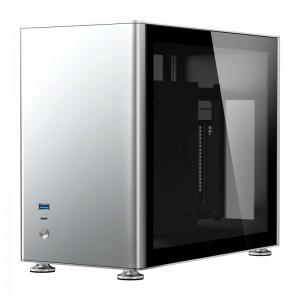Jonsbo A4 ITX Ezüst Edzett üveg /A4 SILVER/