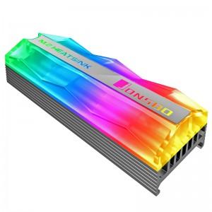 Jonsbo M.2-2 Mirage Edition M.2 SSD passzív hűtőborda, ARGB - szürke(M.2-2 ARGB)
