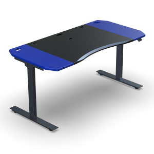 Halberd Chimera Stance 150cm Gamer asztal- Fekete/Kék (Chi15-F5R-BU-BK-CT8)