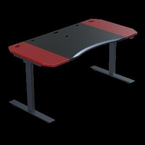 Halberd Chimera Stance 180cm Gamer asztal- Fekete/Piros (Chi18-F5R-RD-BK-CT8)