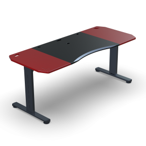 Halberd Chimera Strike 180cm Gamer asztal- Fekete/Piros (Chi18-F1R-RD-BK-CT8)