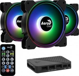 Aerocool Saturn  ventilátor 12F ARGB Pro 12cm RGB LED 3db-os + vezérlõ (52043)