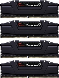 G.SKILL 32GB DDR4 4000MHz Kit(4x8GB) RipjawsV Black (F4-4000C15Q-32GVK)