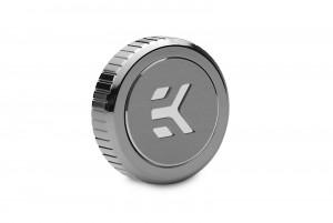 EKWB EK-Quantum Torque Plug w/Badge - Black Nickel (3831109826287)