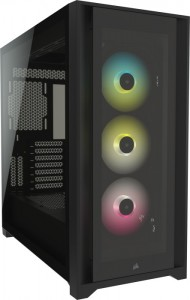 Corsair iCUE 5000X RGB Tempered Glas, Tower - fekete (CC-9011212-WW)