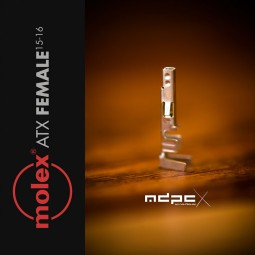 MDPC-X ATX krimpelhető érintkező 15-16 AWG anya a MOLEX - 10 darab