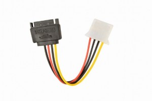 Gembird CC-SATA-PS-M SATA (male) - Molex (female) adapter kábel 0,15m (CC-SATA-PS-M)