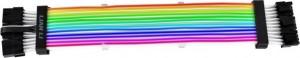 Lian Li Strimer Plus Triple 8Pin GPU RTX 30 sorozat, 3x 8 tűs PCIe hosszabbító kábel, RGB világítással