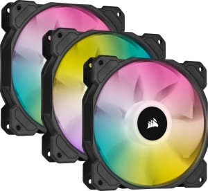 Corsair iCUE SP120 RGB Elite Performance 3as ventilátor készlet 120x120x25 + vezérlés (CO-9050109-WW)
