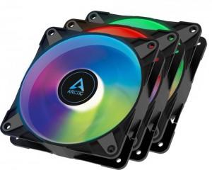 Arctic P12 PWM PST A-RGB 0dB fekete, 120mm, 3as csomag (ACFAN00232A)