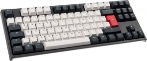 Ducky ONE 2 TKL Tuxedo Gaming Keyboard, MX-Brown - fekete/fehér/vörös DE (DKON1887-BDEPDZZBX)