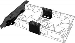 Akasa PCI beszerelõ keret 80 vagy 92mm ventilátorhoz /AK-MX304-08BK/