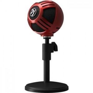 Arozzi Sfera asztali mikrofon, USB - piros  (SFERA-RED)