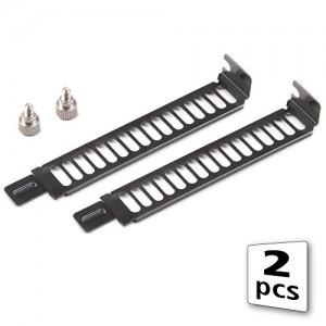 Akasa PCI foglalat blende 2 db - fekete (AK-MX302)