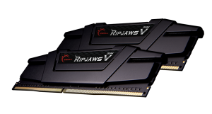 G.Skill RipJaws V fekete DIMM készlet 16 GB, DDR4-3600, 17-19-19-39 (F4-4800C17D-16GVK)