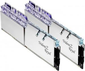 G.Skill Trident Z Royal Silver DIMM Kit 32GB, DDR4-4000, CL16-16-16-36 (F4-4000C16D-32GTRSA)