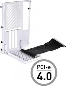 Lian Li O11D-1W-4 Mini Riser Card + PCI-Slot-Blende - PCIe 4.0, fehér (O11DMINI-1W-4)