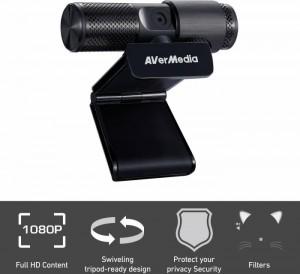 AVerMedia Live Streamer CAM 313, Full HD Webcam, USB 2.0 (40AAPW313ASF)