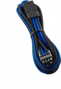 CableMod PRO ModMesh 8-Pin PCIe hosszabbító - 45cm, fekete/kék (CM-PCAB-8PCI-N45KKB-3PK-R)