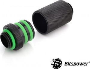 Bitspower Direct-Connect Set egyenes G1/4 hüvelykes külső - extra hosszú, fekete (BP-MBWP-C44)