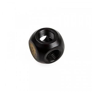 BitsPower Adapter T-osztó 3x G1/4 hüvelyk belső menetes - karbon fekete(BP-CBTMB)
