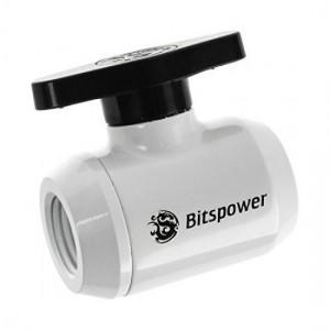 BitsPower Elzárócsap 2x IG 1/4 inch, fekete fogantyú - fehér (BP-MVV-DWBK)